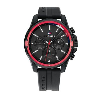 Tommy Hilfiger Mason Men's Black Silicone Strap Watch - Product number 1017829