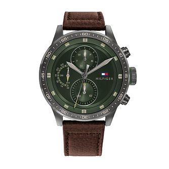 Tommy Hilfiger Trent Men's Brown Leather Strap Watch - Product number 1017845