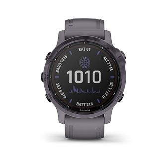 Garmin fenix 6S Pro Solar Edition Grey Silicone Strap Watch - Product number 1017888