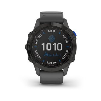 Garmin fenix 6S Pro Solar Edition Grey Silicone Strap Watch - Product number 1017896