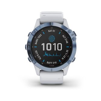 Garmin fenix 6S Pro Solar Edition White Silicone Strap Watch - Product number 1017926