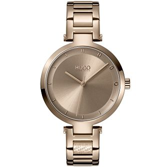 HUGO #HOPE Ladies' Gold Tone IP Bracelet Watch - Product number 1017969