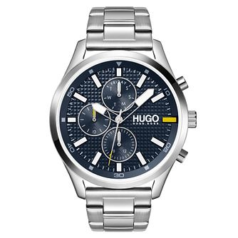 HUGO #CHASE Men's Stainless Steel Bracelet Watch - Product number 1018019