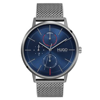 HUGO #EXIST Men's Stainless Steel Mesh Bracelet Watch - Product number 1018302