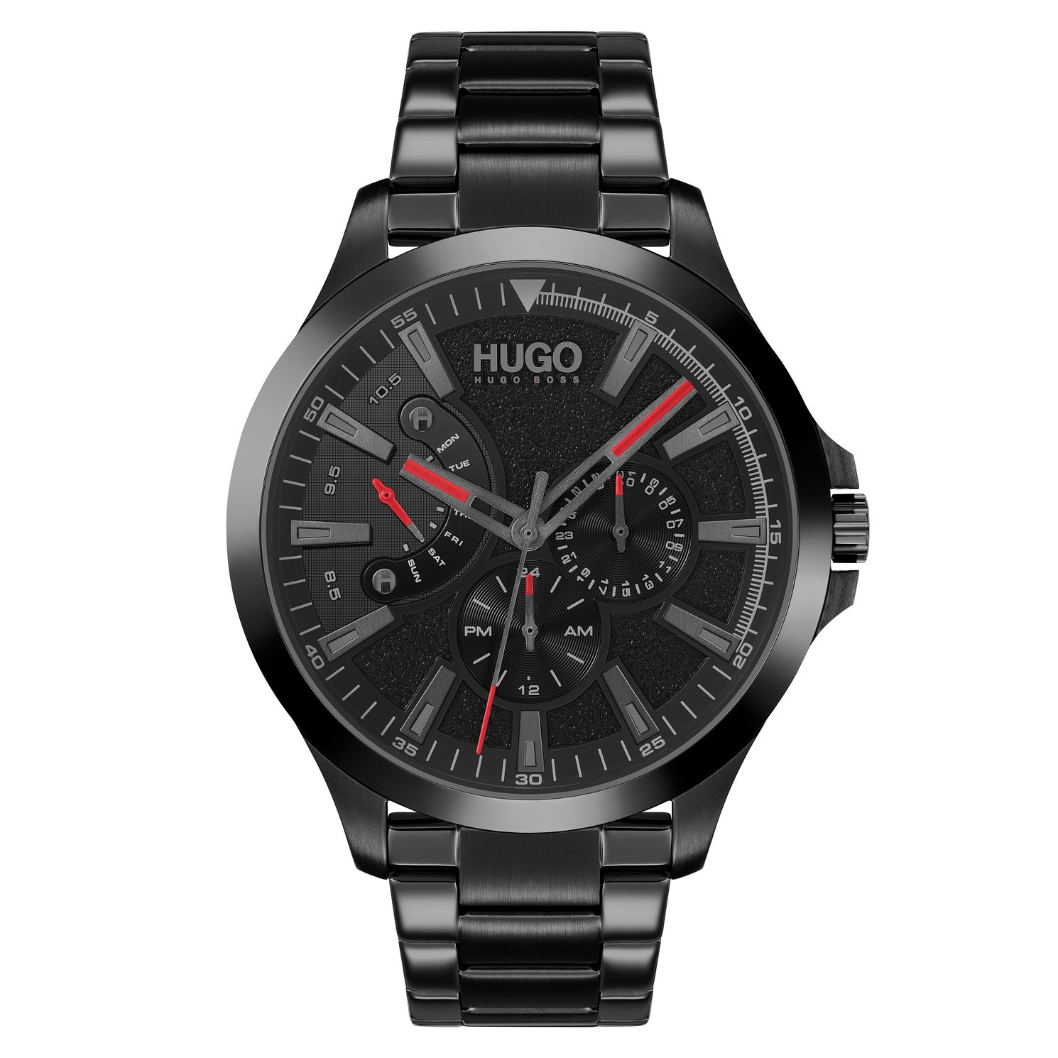 HUGO #LEAP Men's Black IP Bracelet Watch - Product number 1018469