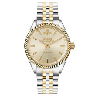 Vivienne Westwood Seymour Men's Two Tone Bracelet Watch - Product number 1020137