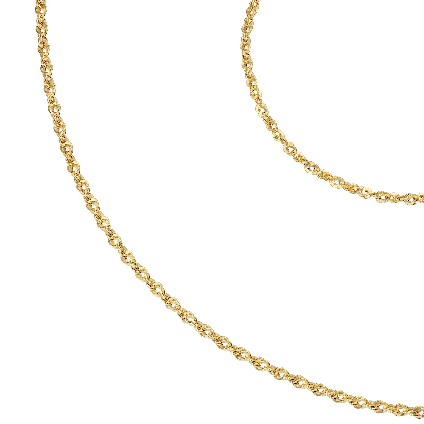 9ct Yellow Gold Rope Chain Bracelet & Necklace Gift Set - Product number 1020870