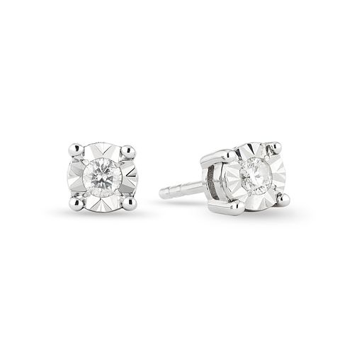 9ct White Gold Illusion Diamond Earrings - Product number 1020986