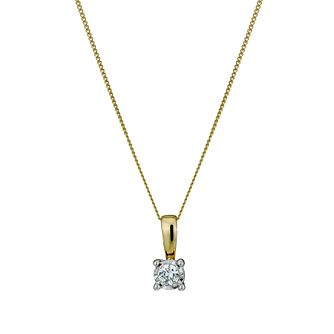 9ct Gold Diamond Pendant Necklace - Product number 1021001