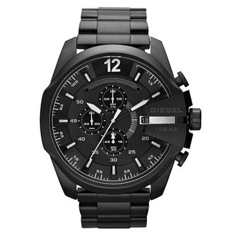 Diesel Mega Chief Men's Black Stainless Steel Bracelet Watch - Product number 1021559