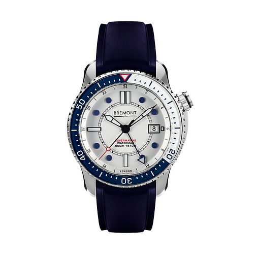 Bremont Waterman Men's Stainless Steel Strap Watch - Product number 1022377
