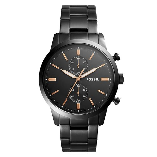 Fossil Men's Black Stainless Steel Bracelet Watch - Product number 1023012