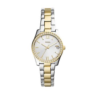 Fossil Scarlette Mini Ladies' Two Tone Bracelet Watch - Product number 1023438