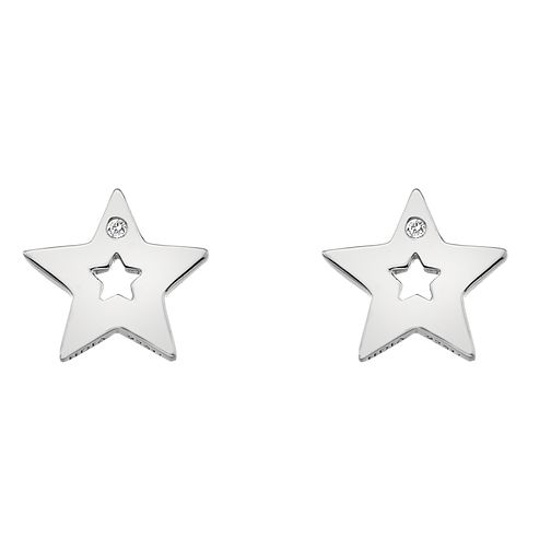Hot Diamonds Silver Rhodium Star Stud Earrings - Product number 1023691