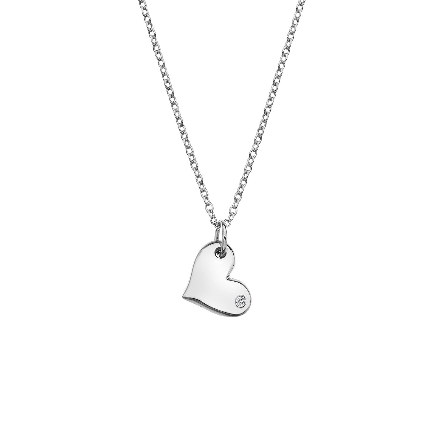 Silver Rhodium Heart Pendant - Product number 1023837