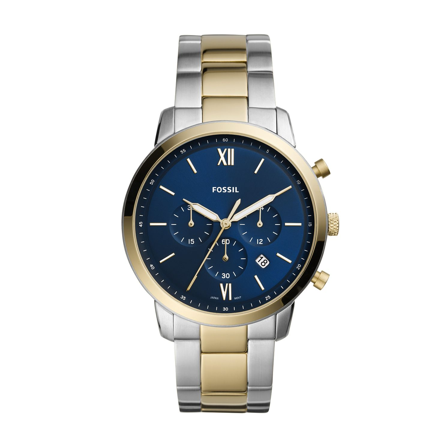Fossil Neutra Chronograph Men's Two Tone Bracelet Watch - Product number 1024590
