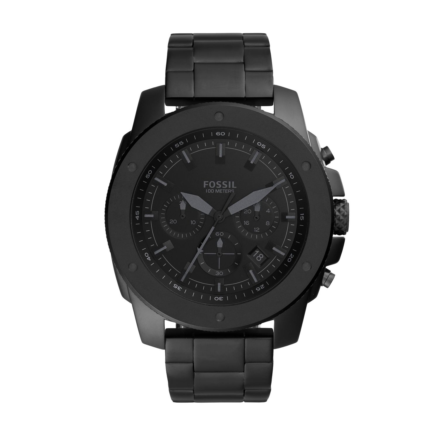 Fossil Mega Machine Men's Black IP Bracelet Watch - Product number 1025449