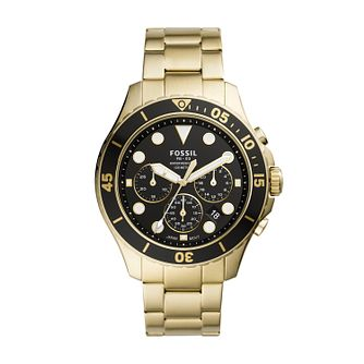 Fossil FB-03 Men's Gold Tone Bracelet Watch - Product number 1025902
