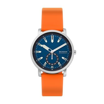 Skagen Colden Men's Orange Silicone Strap Watch - Product number 1026364