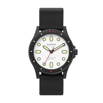 Skagen Fisk Men's Black Silicone Strap Watch - Product number 1027204