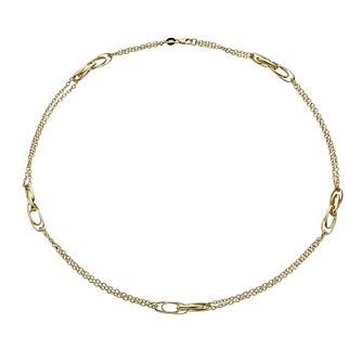 Together Bonded Silver & 9ct Gold Double Strand Necklace - Product number 1029339