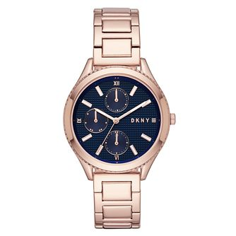 DKNY Woodhaven Ladies' Rose Gold Plated Steel Bracelet Watch - Product number 1030051