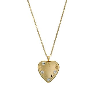 Together Silver & 9ct Bonded Gold 18 inches Heart Locket - Product number 1031414