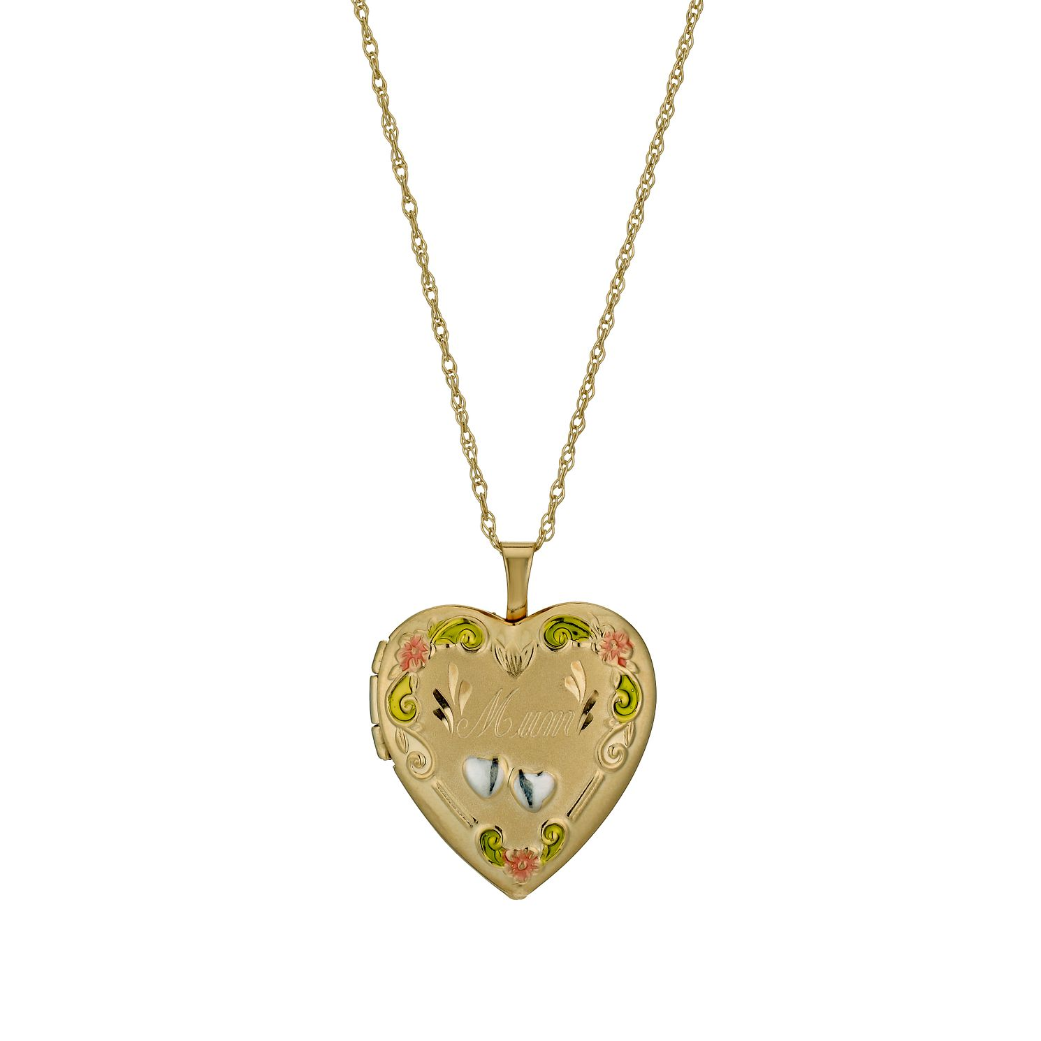 Together Silver & 9ct Bonded Gold 18 inches Mum Locket - Product number 1031422