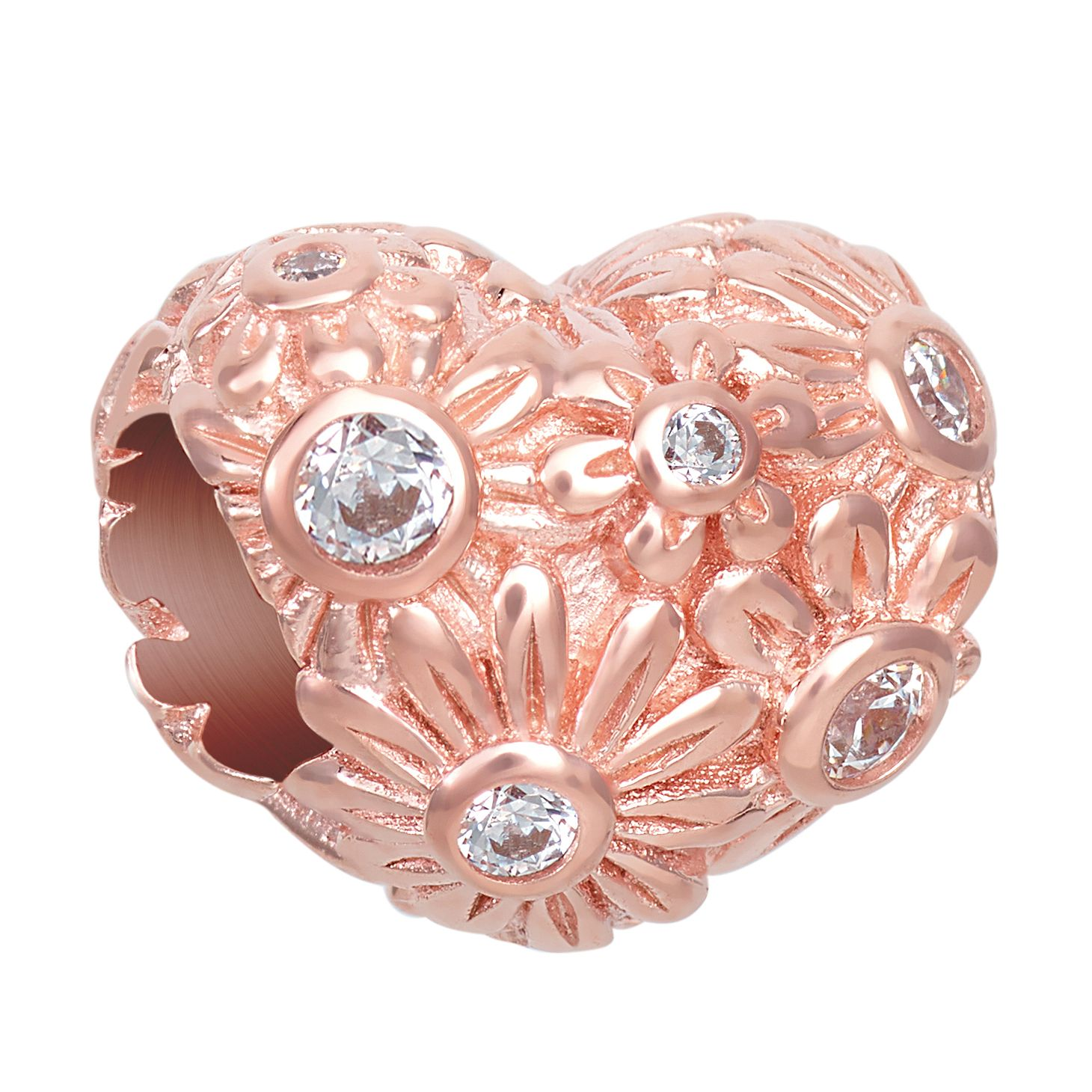 Chamilia Blush Zinnia Heart Charm - Product number 1031945