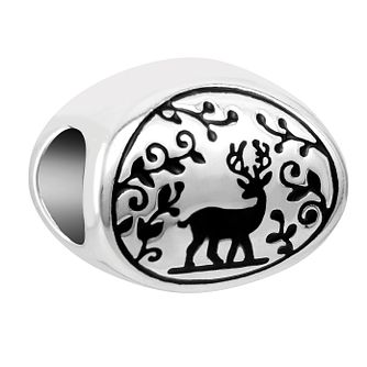 Chamilia Woodland Deer Charm with Black Enamel - Product number 1032100