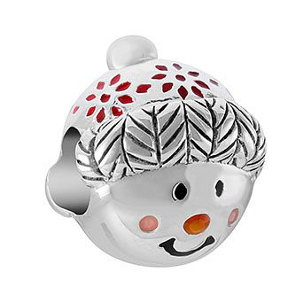Chamilia Cuddly Snowman Charm with Pink, Orange & Red Enamel - Product number 1032194
