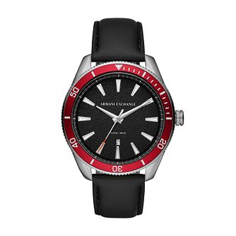 Armani Exchange Men's Black Leather Strap Watch - Product number 1032305
