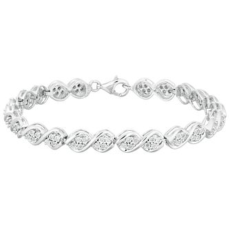 Silver 1/2ct Diamond Bracelet - Product number 1032488