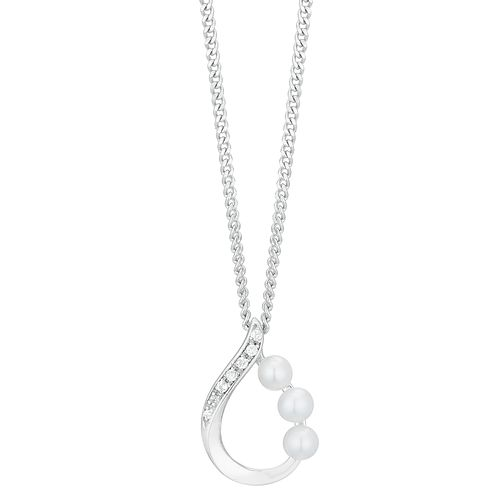 Silver Cultured Freshwater Pearl Teardrop Pendant - Product number 1034146