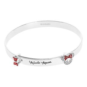 Disney Children's Minnie Mouse Head & Bow Silver Bangle - Product number 1034286
