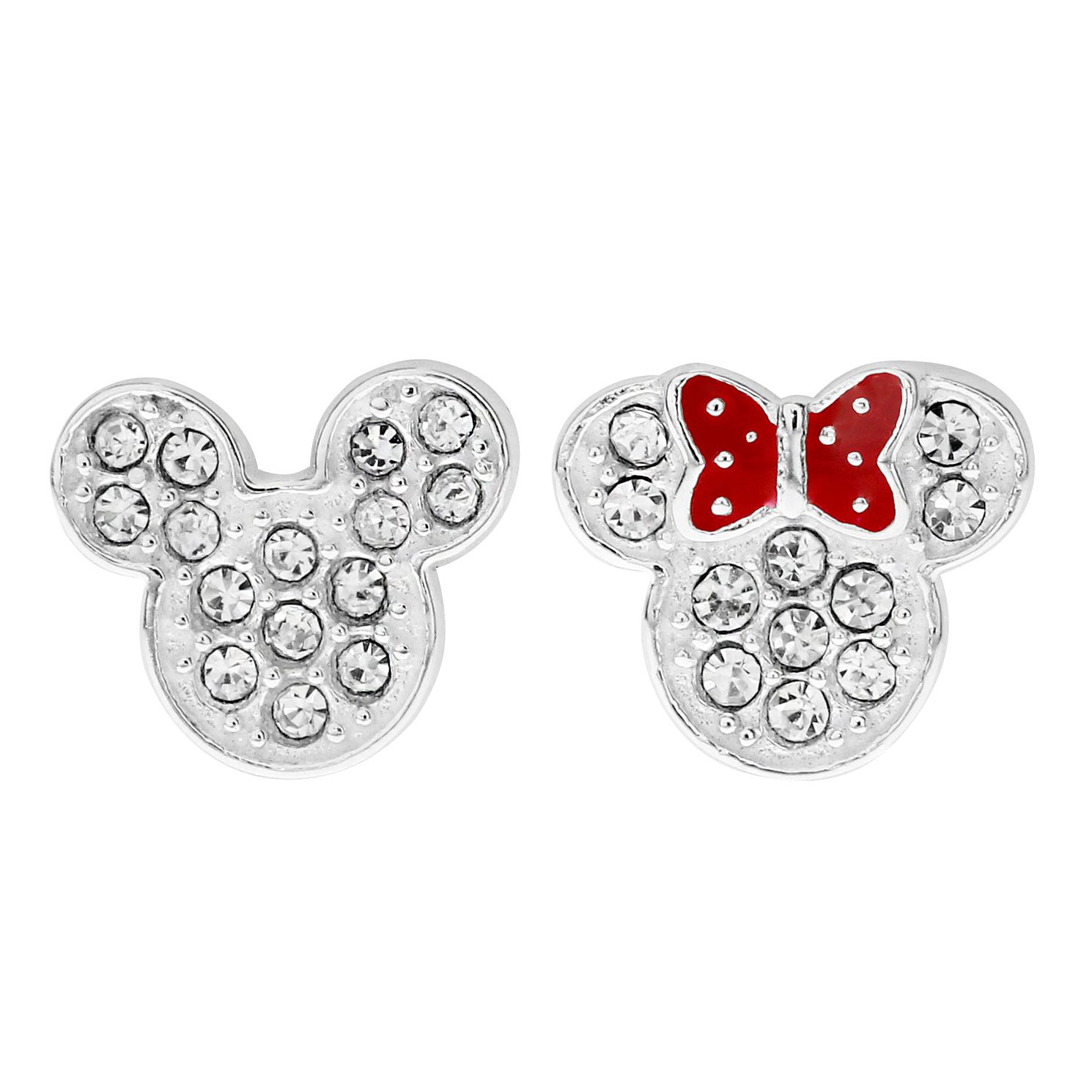 Disney Children's Mickey & Minnie Mouse Head Stud Earrings - Product number 1034294