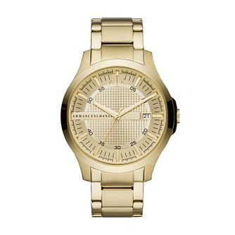 Armani Exchange Men's Yellow Gold Tone Bracelet Watch - Product number 1034324