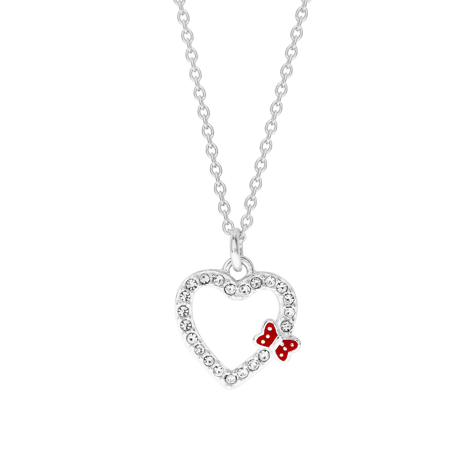 Disney Children's Minnie Mouse Sterling Silver Heart Pendant - Product number 1034715