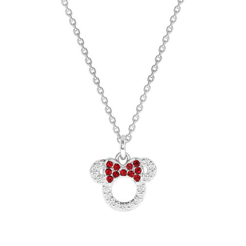 Disney Children's Minnie Mouse Head Sterling Silver Pendant - Product number 1034723