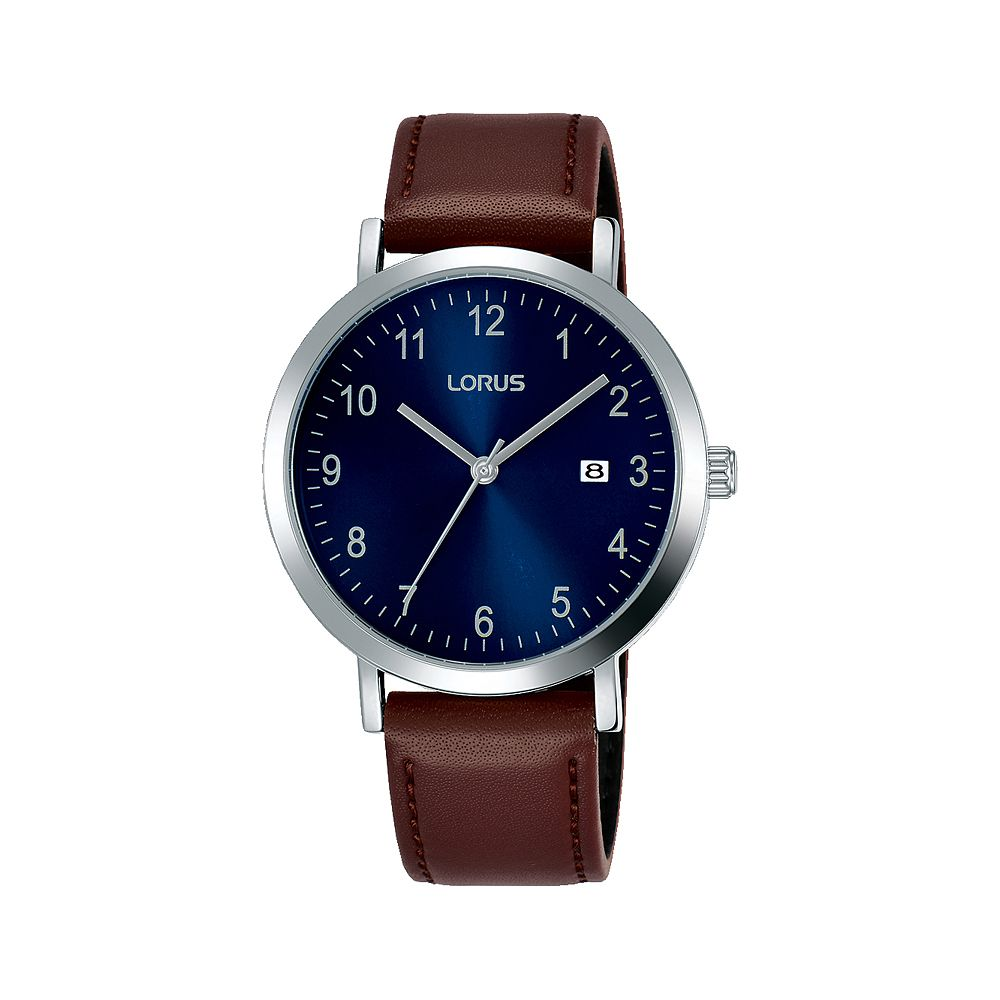 Lorus Men's Brown Leather Strap Watch - Product number 1034855