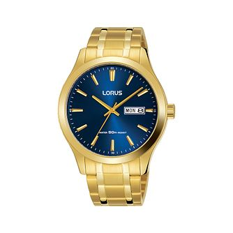 Lorus Men's Gold Plated Bracelet Watch - Product number 1034871