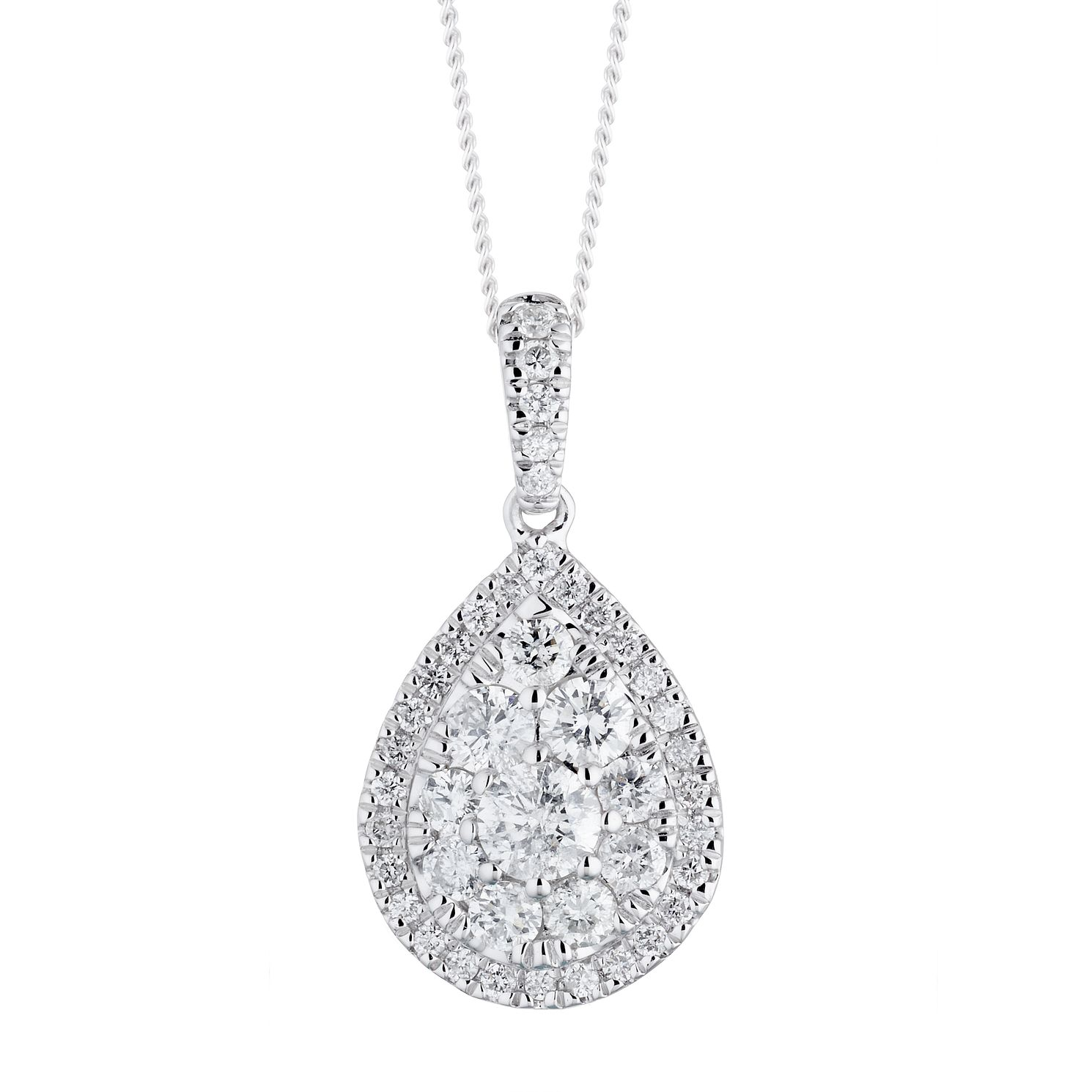 Platinum 0.75ct Diamond Pear Pendant - Product number 1035037