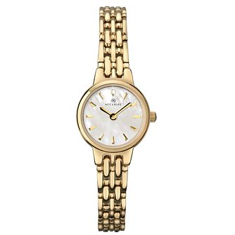 Accurist Ladies' Mother Of Pearl Gold Tone Bracelet Watch - Product number 1039970