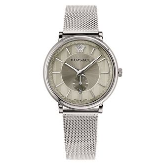 Versace V-Circle Men's Silver Mesh Bracelet Watch - Product number 1042092