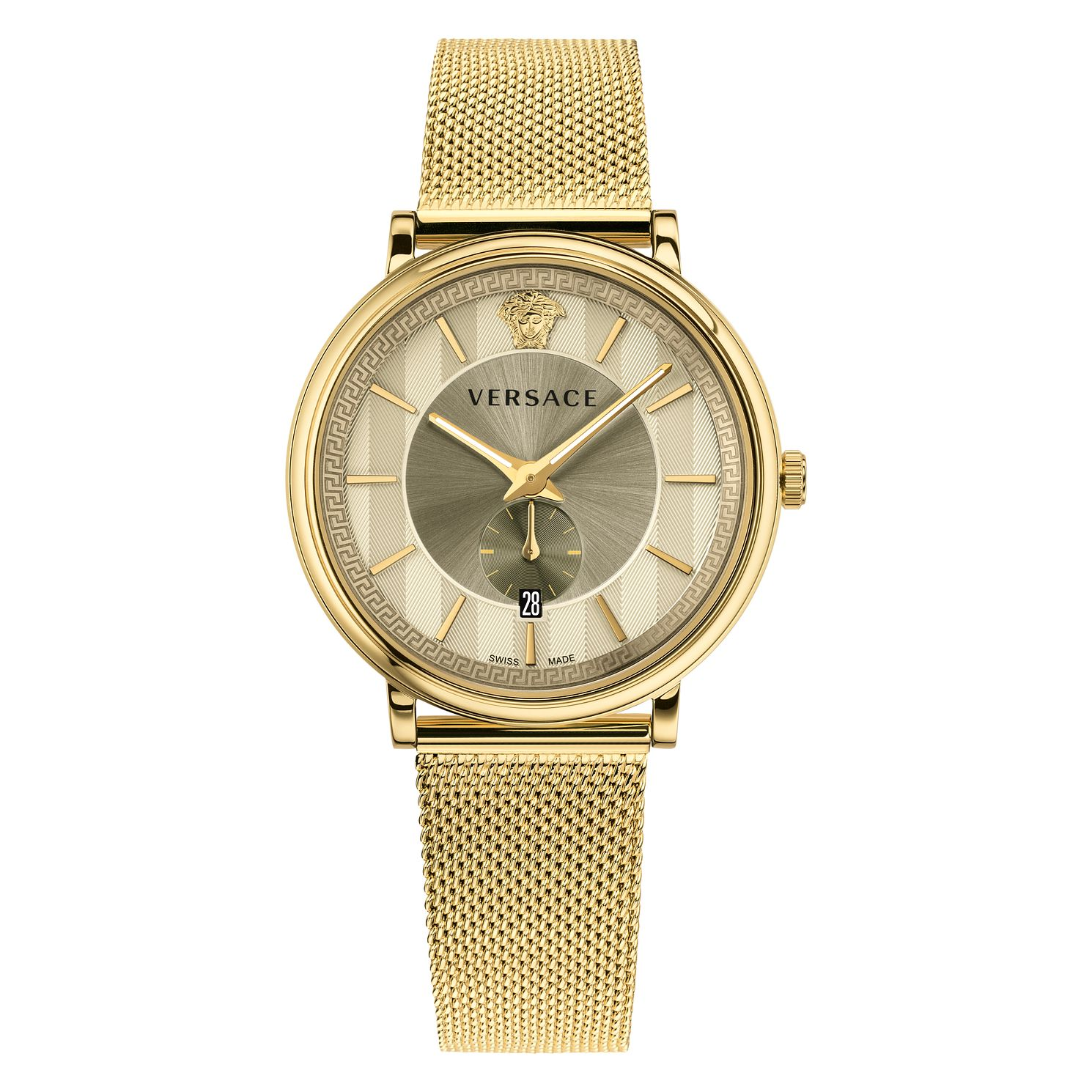 Versace V-Circle Men's Gold Mesh Bracelet Watch - Product number 1042114