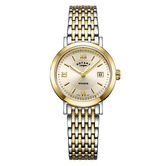 Rotary Windsor Ladies' Two-Tone Bracelet Watch - Product number 1042521
