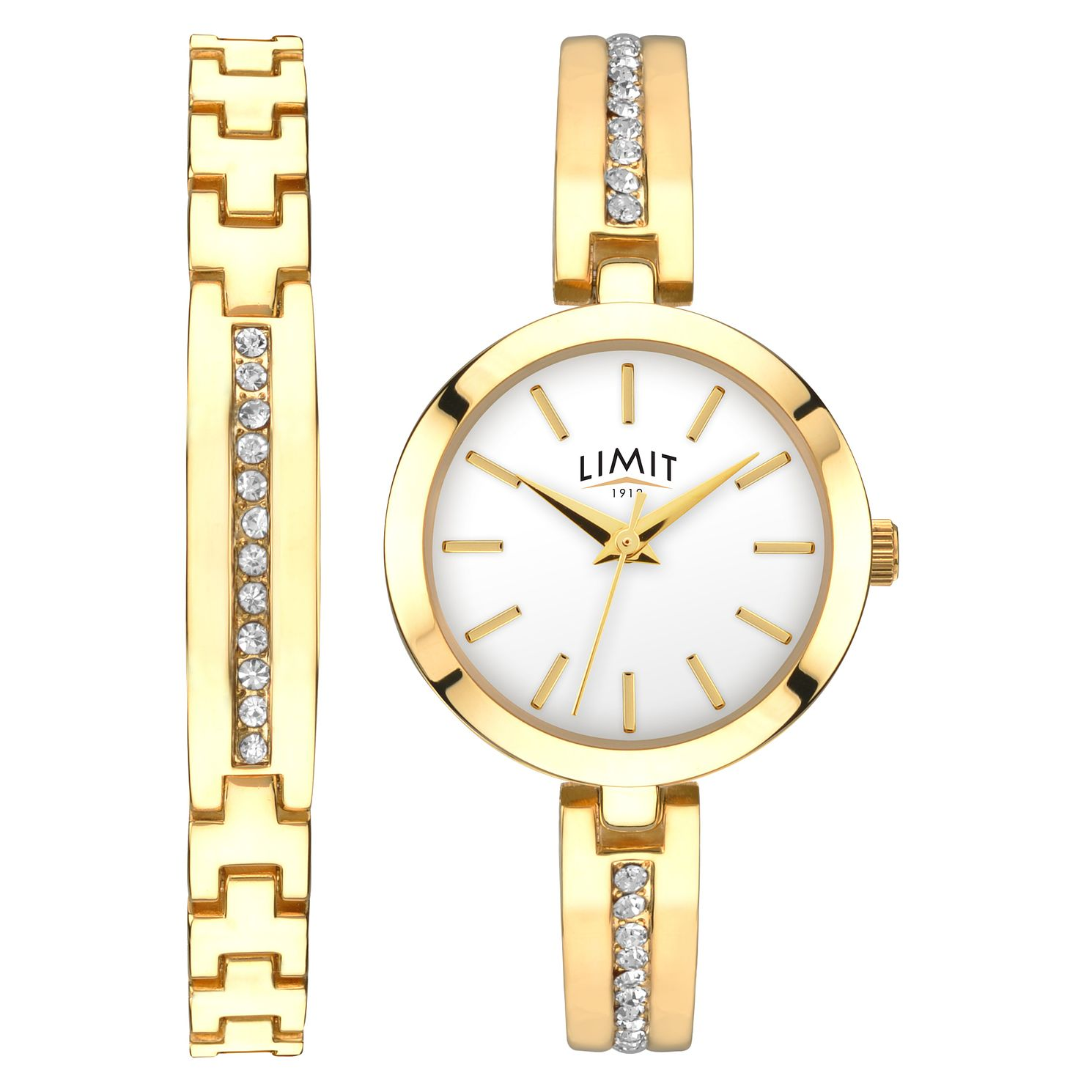 Limit Ladies' 2-Piece Gold-Tone Bracelet & Watch Set - Product number 1043013