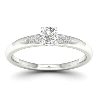 The Diamond Story Platinum 0.20ct Diamond Engagement Ring - Product number 1043099