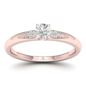 The Diamond Story 18ct Rose Gold 0.20ct Engagement Ring - Product number 1043242