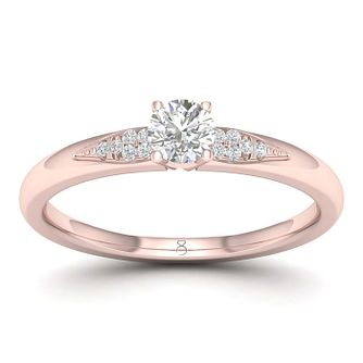 01ec85f67eba The Diamond Story 18ct Rose Gold 0.20ct Engagement Ring - Product number  1043242